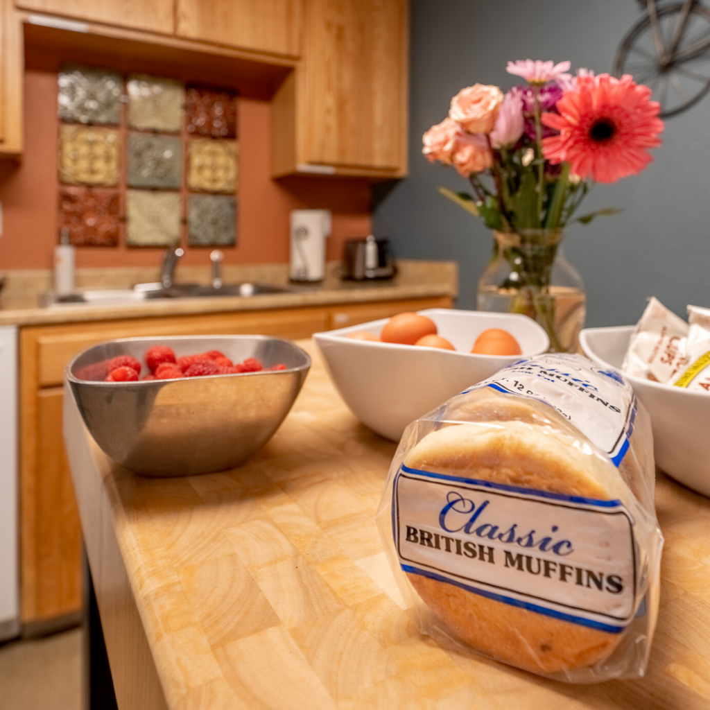 Self serve continental style breakfast at your Corvallis vacation rental