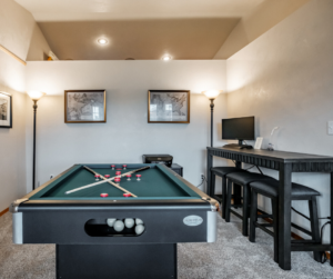 game room and home office