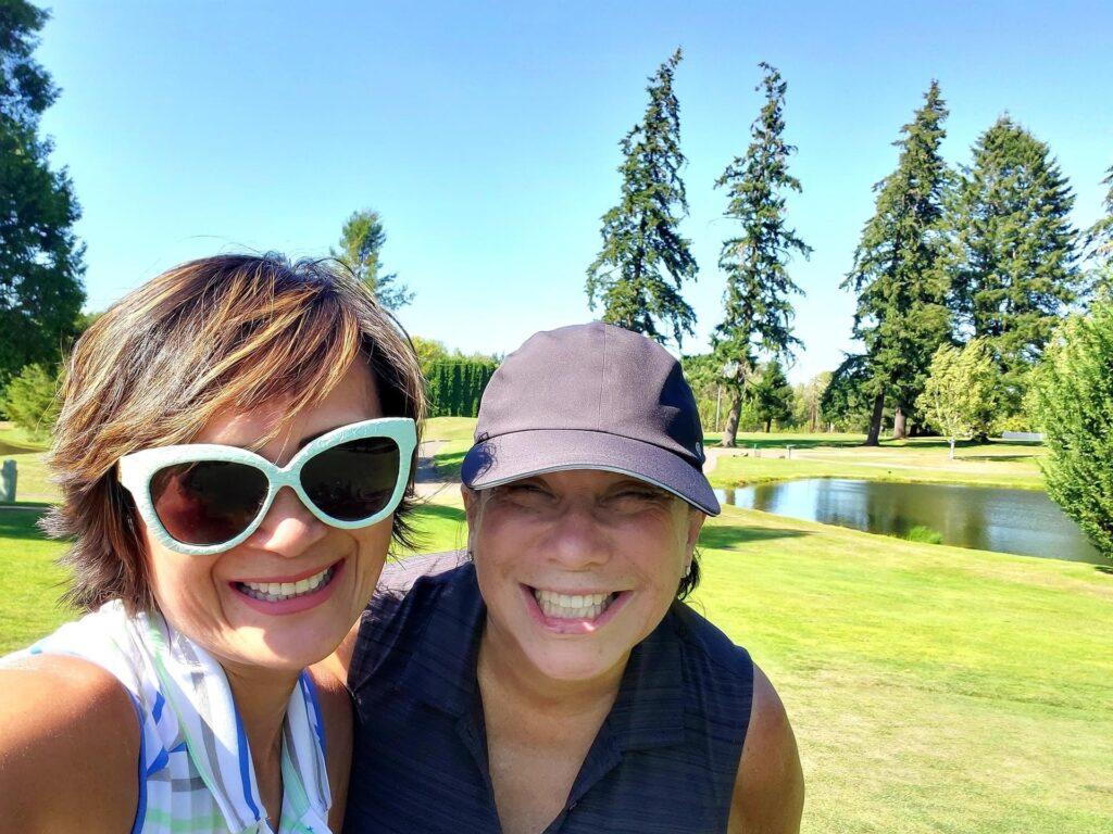 Alexandra and Kimber at the Corvallis Club
