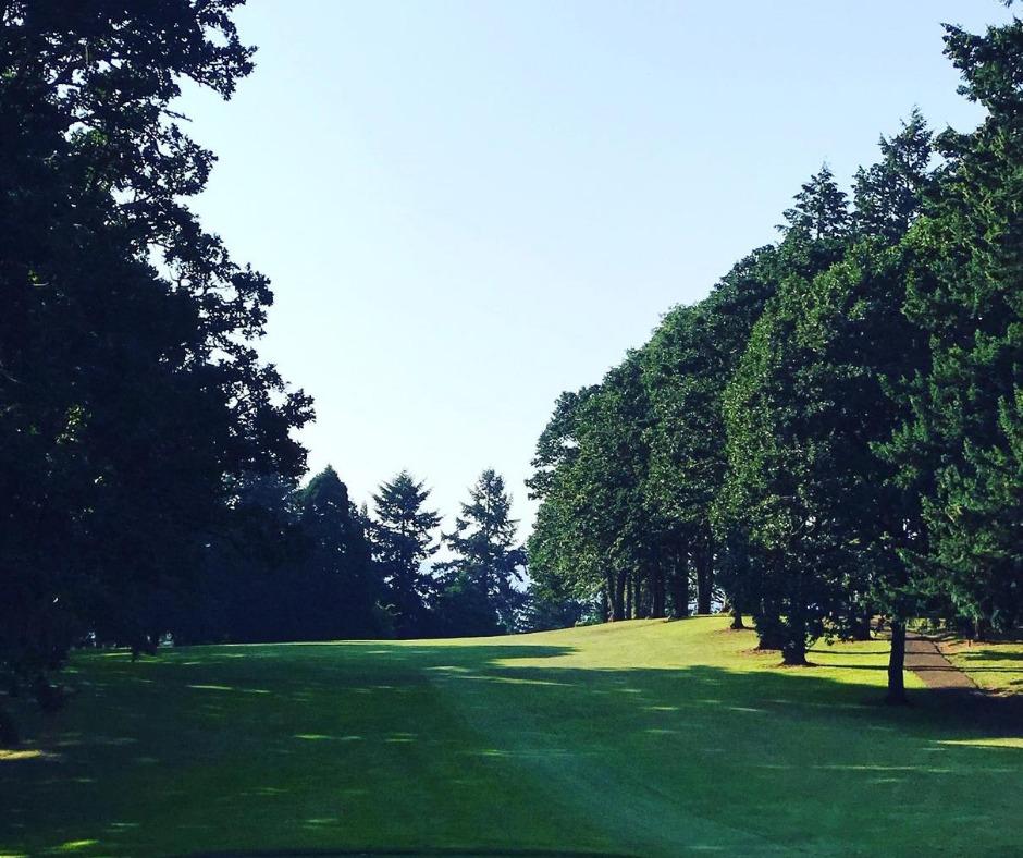 golfing in Corvallis at the Corvallis Club