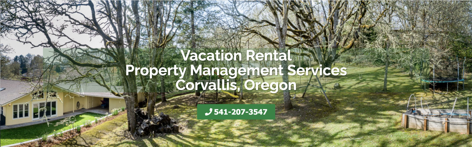 Vacation Rental Property Management Corvallis with phone