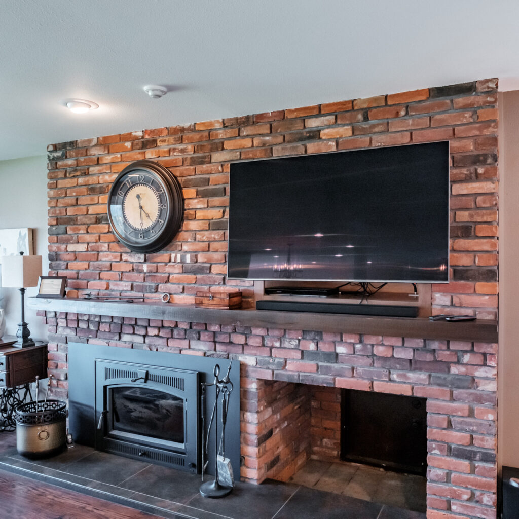 fireplace at Highland Acred