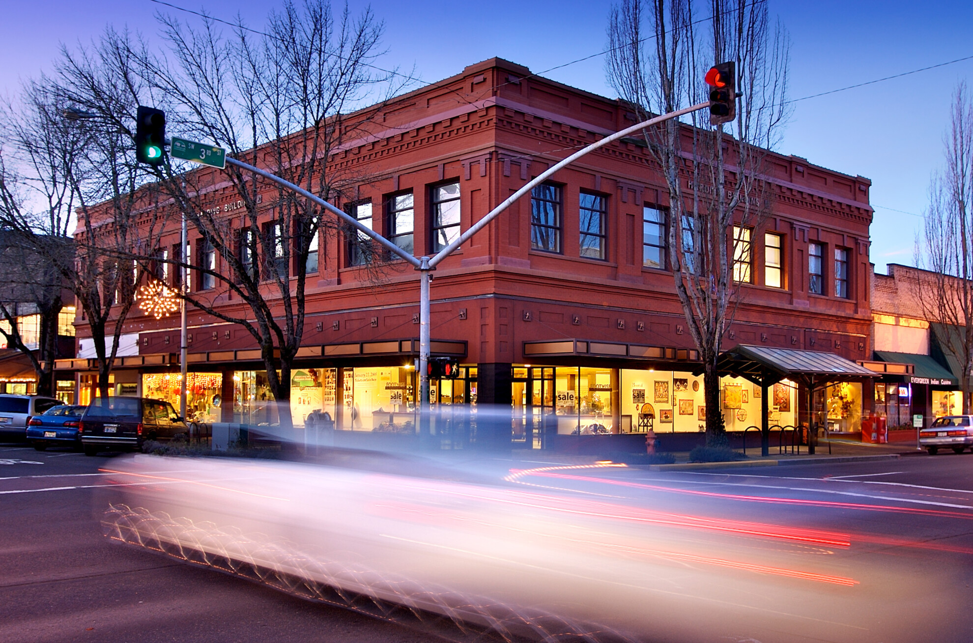 Corvallis shop on Third and Madison