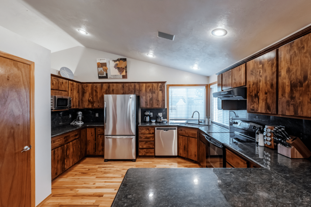 choose lodging that contains a kitchen